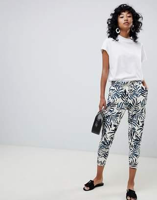 Ichi Palm Print Pants