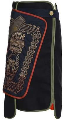 Peter Pilotto Paneled Embroidered Wool-Blend Midi Skirt