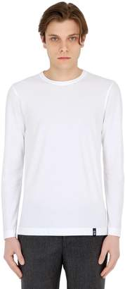 Drumohr Cotton Crepe Jersey Long Sleeve T-Shirt