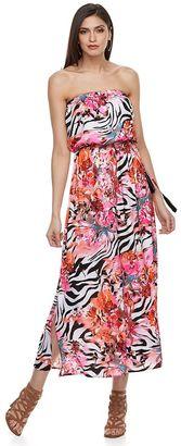 Women's Jennifer Lopez Strapless Blouson Maxi Dress $80 thestylecure.com