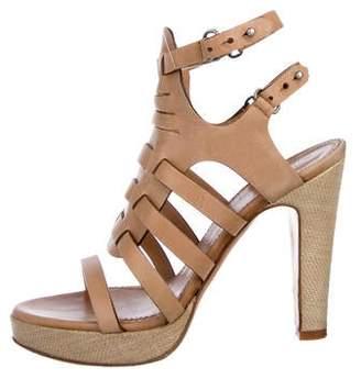 Rag & Bone Leather Peep-Toe Sandals