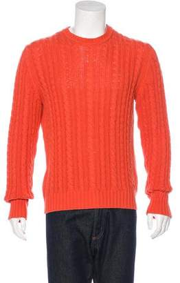 Burberry Cable Knit Crew Neck Sweater