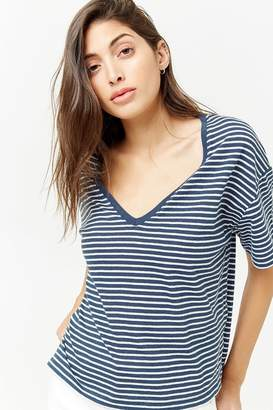 Forever 21 Boxy Striped Tee