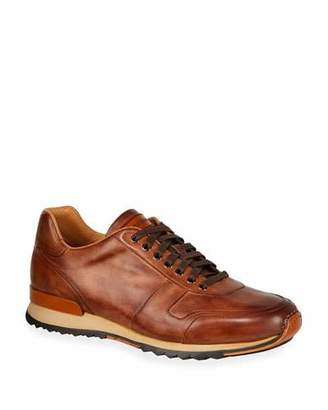 Magnanni Men's Soft Bultaco Leather Lace-Up Oxford Sneakers