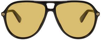 Gucci Black Urban Pilot Sunglasses
