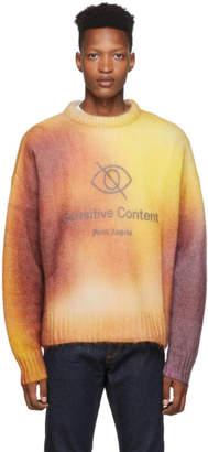 Palm Angels Multicolor Sensitive Content Sweater