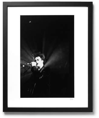 Sonic Editions Framed 1992 Robert Smith In Bradford Print, 17 X 21