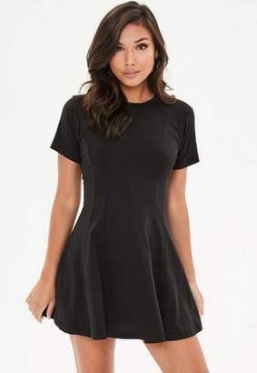 Missguided Black Jersey Skater Dress