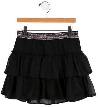 Ralph Lauren Girls' Ruffle-Tiered Chiffon Skirt