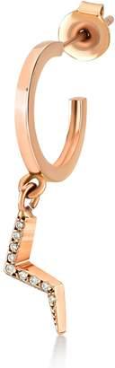 Selda Jewellery - White Diamond Lightning Hoop Earring Single