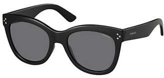 Polaroid 54mm Polarized Matte Square Sunglasses