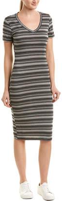Michael Stars Stripe Midi Sheath Dress