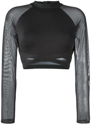 Reebok sheer detailing cropped top $66.64 thestylecure.com