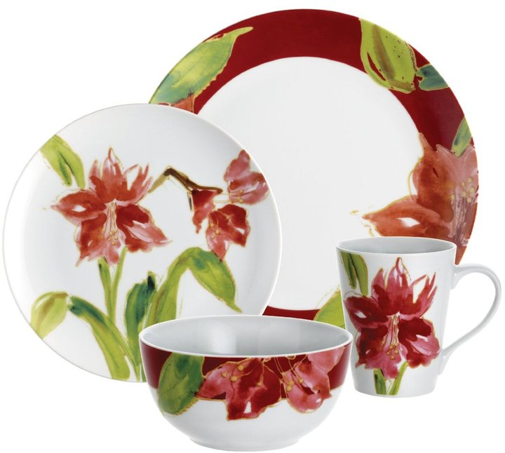 Paula Deen Signature Amaryllis Dinnerware Set 16pc