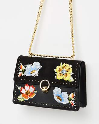 Topshop Scilla Embroidered Shoulder Bag
