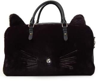 OMG Faux Fur Cat Duffel Bag