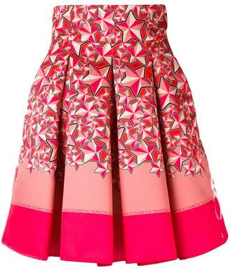 Elisabetta Franchi star print skirt