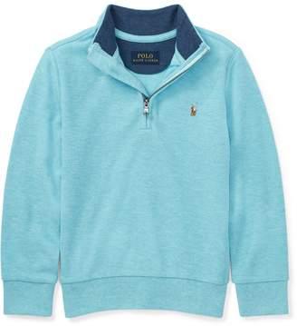 Ralph Lauren Cotton Mesh Half-Zip Pullover