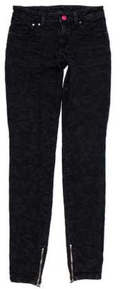 Louis Vuitton Printed Mid-Rise Jeans