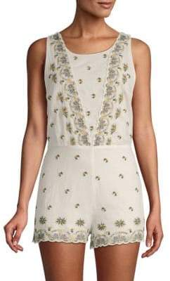 Free People Margarita Embroidered Romper