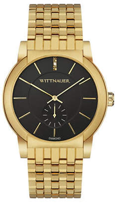 Wittnauer Analog Goldtone Bracelet Watch