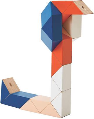 Areaware Snake Block Toy - Medium - Blue/Pink