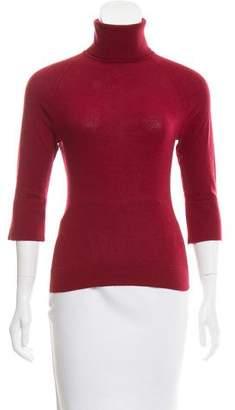 Max Mara Turtleneck Short Sleeve Sweater