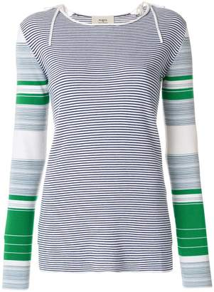 Ports 1961 colour-block striped sweater