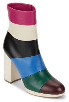 Valentino Colorblock Leather Ankle Booties