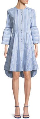 Palmer Harding palmer//harding April Button-Front Striped Poplin Dress