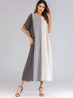 Shein Color Block Tunic Longline Dress