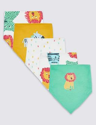 Marks and Spencer 5 Pack Pure Cotton Dribble Bibs
