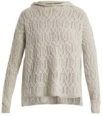 Nili Lotan Belize cable-knit cashmere hooded sweater