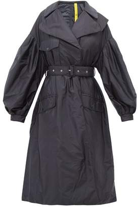 Simone Rocha 4 Moncler Dinah Balloon Sleeve Quilted Lining Coat - Womens - Navy
