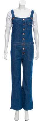 MiH Jeans Wide-Leg Overalls