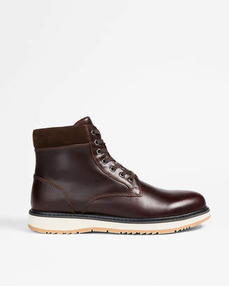 Express Contrast Sole Leather Boots