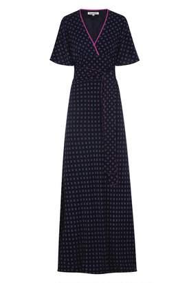 Libelula Long Willow Dress Explosion Print Navy