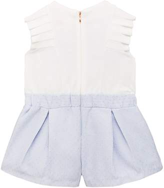 dbf8ac509 Ted Baker Toddler Girls Pleat Bow Playsuit- Light Blue
