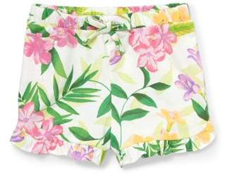 Children's Place The  Toddler Girls' Tropical Floral Knit Shorts