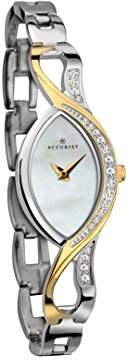 Accurist Women's Quartz Watch with Mother of Pearl Dial Analogue Display and Two Tone Mixed Bracelet 8057.01