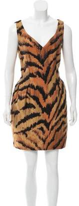 Paule Ka Sleeveless Jacquard Dress