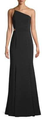 Jay Godfrey Greyson One-Shoulder Cutout Gown