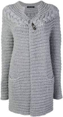 Iris von Arnim chunky knit longline cardigan