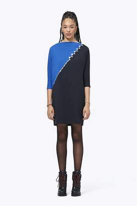 Marc Jacobs Crystal-Trim Colorblock Dress