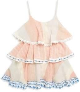 Hemant & Nandita Little Girl's& Girl's Bonny Ruffle Cotton Dress