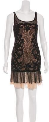 Carmen Marc Valvo Lace Mini Dress