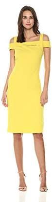 ECI New York Women's T-Strap Solid Scuba Sheath Dress