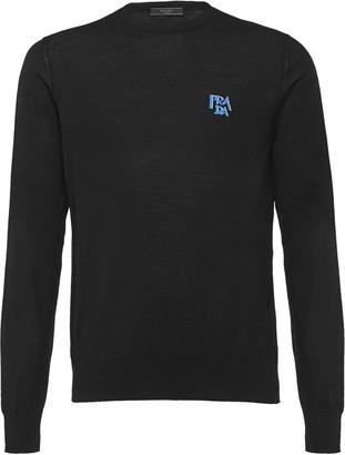 Prada wool sweater with intarsia