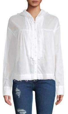 Free People Breezy Hooded Cotton Shirt