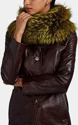 LILLY e VIOLETTA Women's Fox Fur Cowl Scarf - Yellow